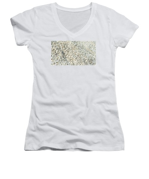 Women's V-Neck T-Shirt (Junior Cut) featuring the photograph Sea Shells by Yew Kwang