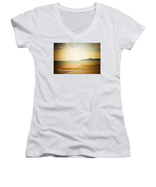 Women's V-Neck T-Shirt (Junior Cut) featuring the photograph Serenity by Sara Frank