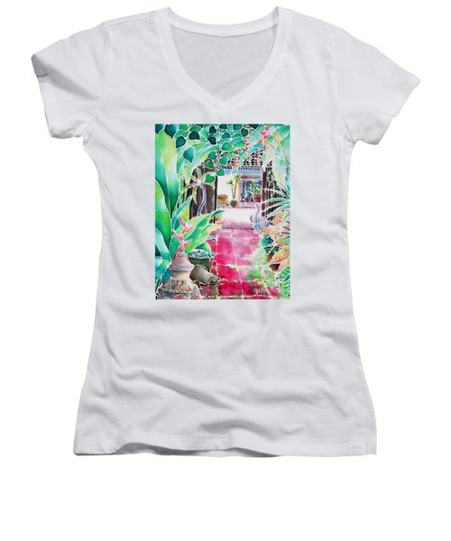 Shade In The Patio Women's V-Neck