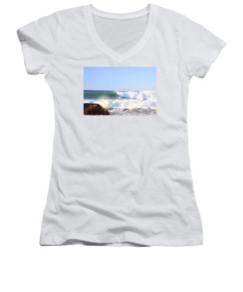 Snake Hole Surfer Women's V-Neck T-Shirt