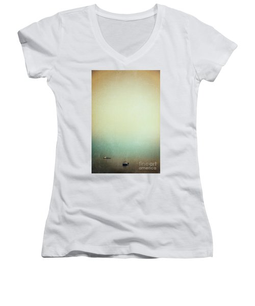 Solitary Ships Women's V-Neck T-Shirt