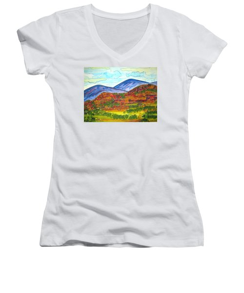 South Mesa Dark Women's V-Neck T-Shirt