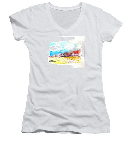 Spanish Peaks Study Women's V-Neck T-Shirt