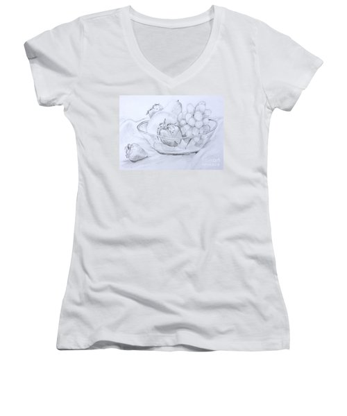 Still Life With Fruit Women's V-Neck (Athletic Fit)