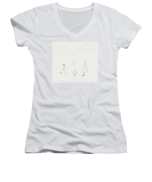 Street Apparition Women's V-Neck (Athletic Fit)
