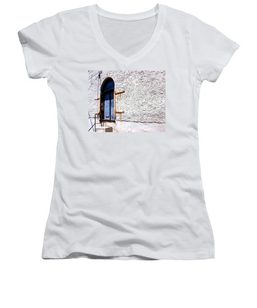 The Back Door Women's V-Neck T-Shirt (Junior Cut) by Betty Northcutt
