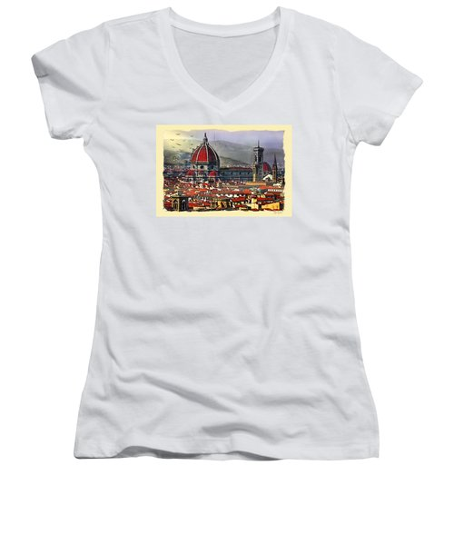 The City Of Florence Women's V-Neck T-Shirt