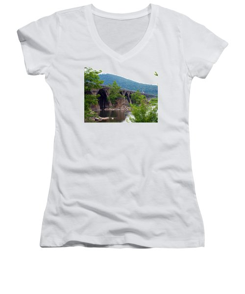 The Great Old Bridge Women's V-Neck (Athletic Fit)