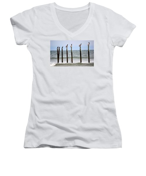 The Watchers Women's V-Neck T-Shirt