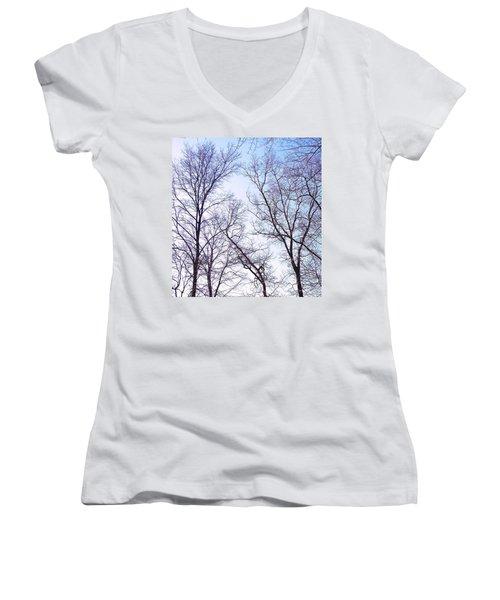 Women's V-Neck T-Shirt (Junior Cut) featuring the photograph Through To Heaven by Pamela Hyde Wilson