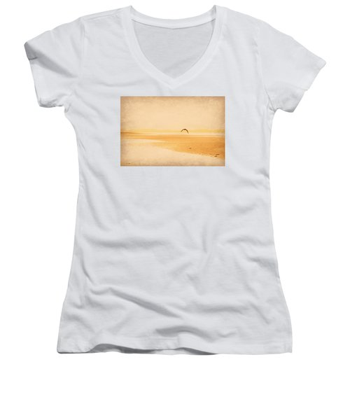 Women's V-Neck T-Shirt (Junior Cut) featuring the photograph Tranquillity by Marilyn Wilson