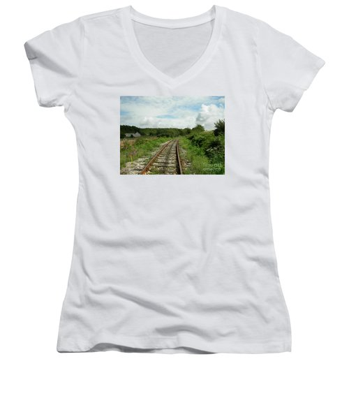 Traveling Towards One's Dream Women's V-Neck T-Shirt