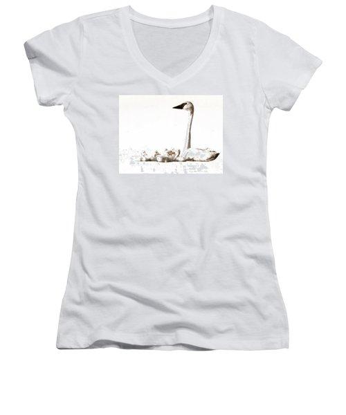 Trumpeter Swans Women's V-Neck