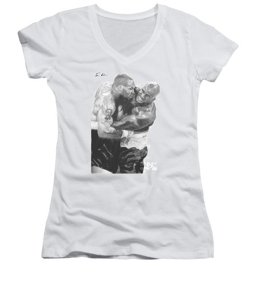 Tyson Vs Holyfield Women's V-Neck T-Shirt