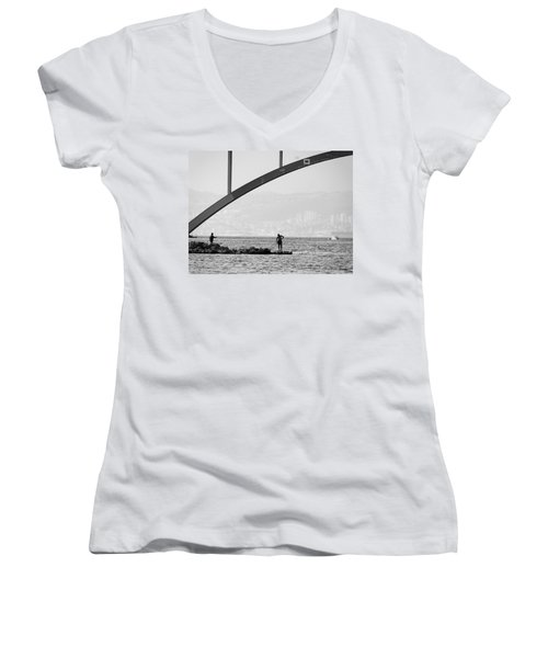 Under The Bridge 2 Women's V-Neck T-Shirt