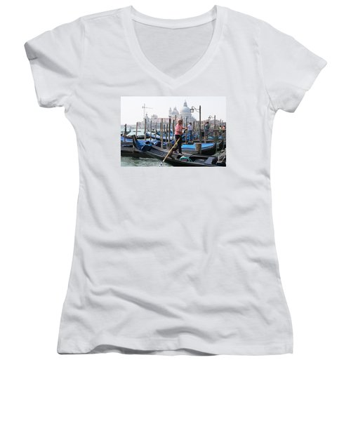 Venice Women's V-Neck T-Shirt (Junior Cut) by Mary-Lee Sanders