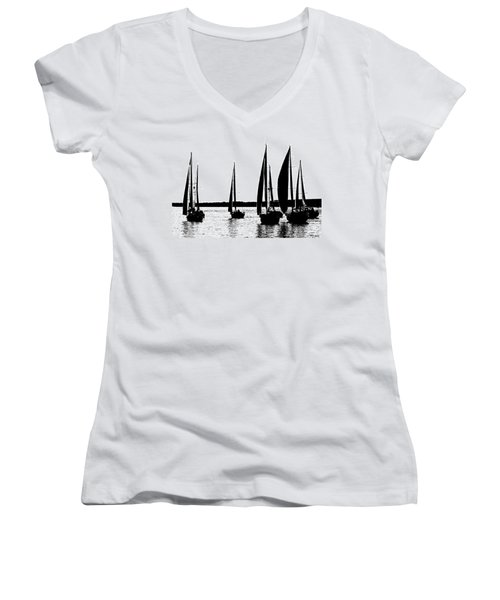 Waiting On The Wind Women's V-Neck