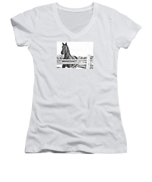 Watching Close Women's V-Neck T-Shirt