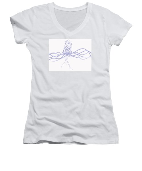 Waveflower Women's V-Neck T-Shirt