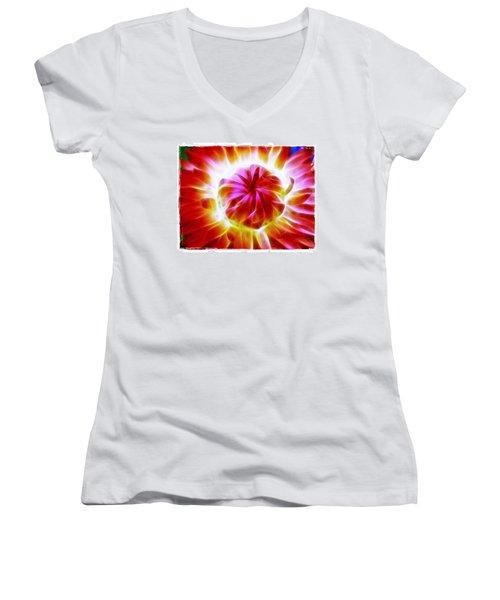 Whirling Women's V-Neck T-Shirt (Junior Cut) by Judi Bagwell