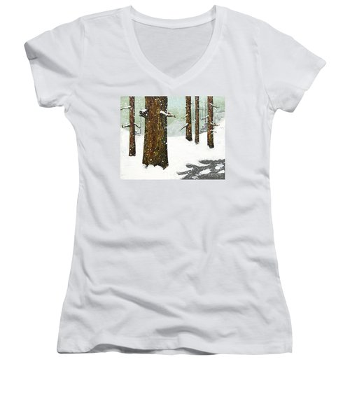 Wintering Pines Women's V-Neck