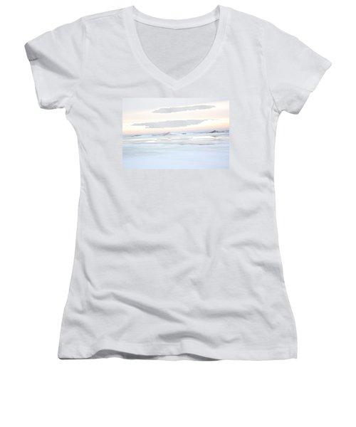 Winters Bright Light Women's V-Neck T-Shirt