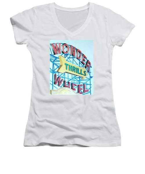Wonder Wheel Women's V-Neck T-Shirt