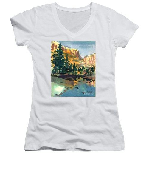 Yosemite Valley In January Women's V-Neck (Athletic Fit)