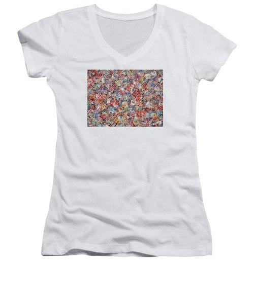 Golf Women's V-Neck T-Shirt (Junior Cut) by Natalie Holland