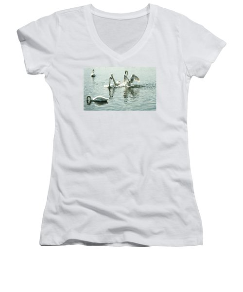 I Think He Means It..... This Time........ Women's V-Neck T-Shirt (Junior Cut) by Martina Fagan