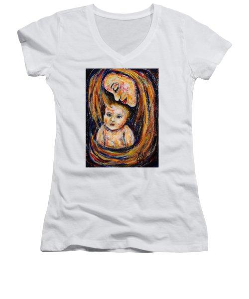 Mother's Love Women's V-Neck T-Shirt