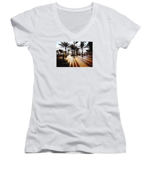 Silhouettes Women's V-Neck T-Shirt (Junior Cut) by Marwan Khoury