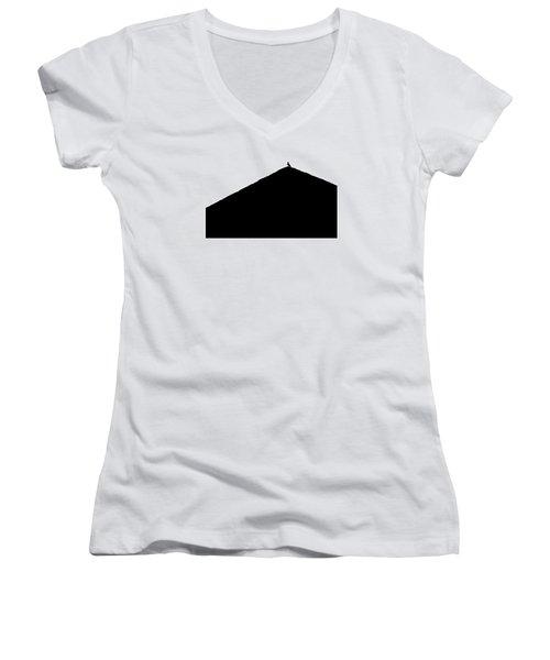 Unchained  Women's V-Neck T-Shirt (Junior Cut) by Prakash Ghai