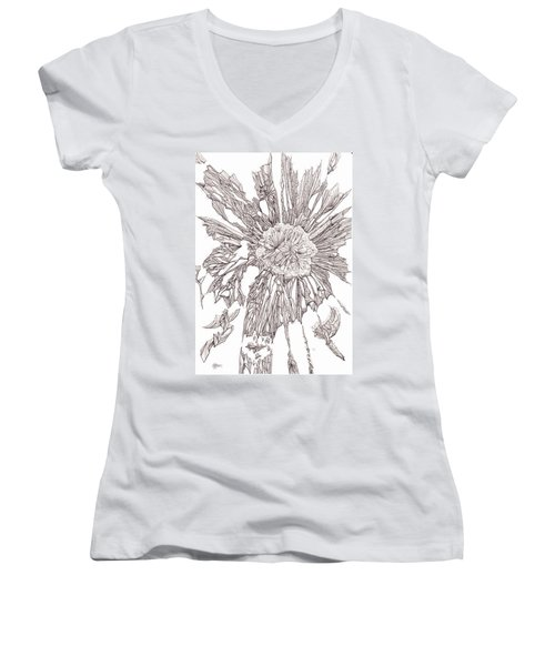 Breaking Free.    0111-1 Women's V-Neck T-Shirt