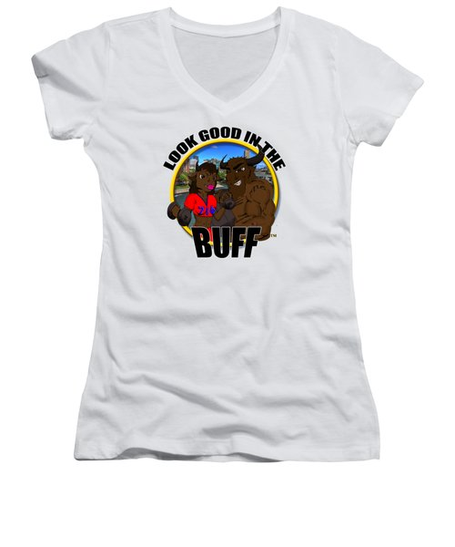 05 Look Good In The Buff Women's V-Neck T-Shirt