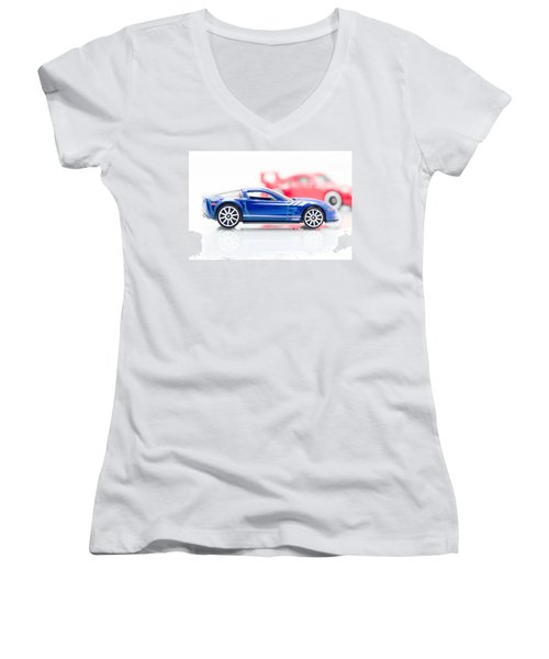 09 Zr1 Women's V-Neck T-Shirt (Junior Cut) by Wade Brooks