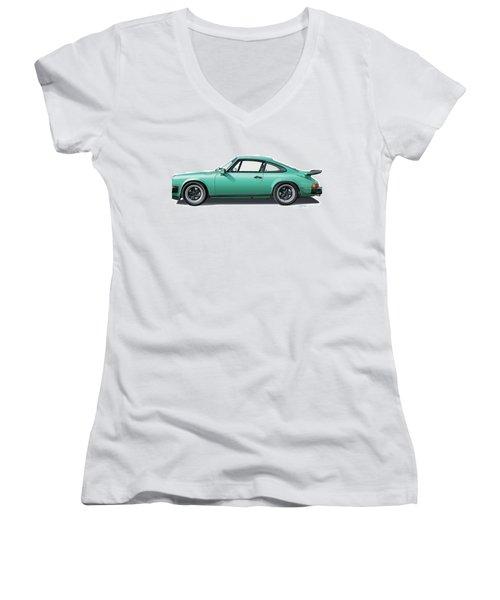 1976 Porsche Euro Carrera 2.7 Illustration Women's V-Neck T-Shirt