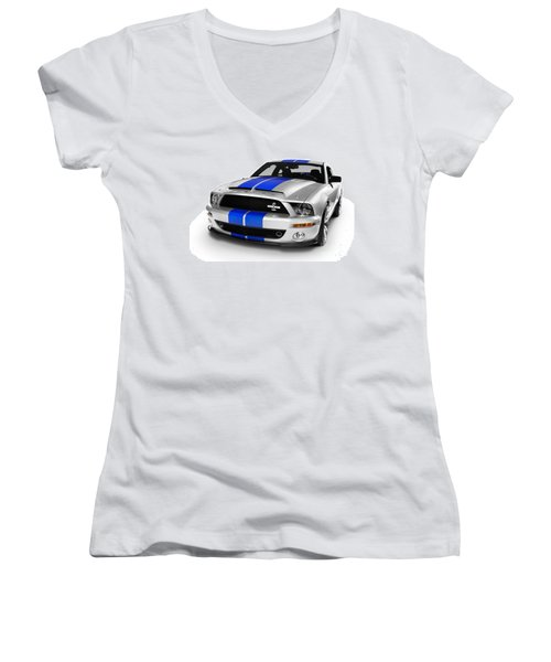 2008 Shelby Ford Gt500kr Women's V-Neck (Athletic Fit)
