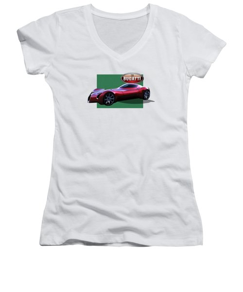 2025 Bugatti Aerolithe Concept With 3 D Badge  Women's V-Neck