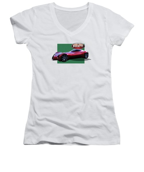 2025 Bugatti Aerolithe Concept With 3 D Badge  Women's V-Neck (Athletic Fit)