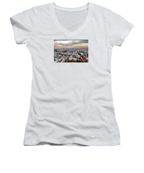 Afternoon On The City Women's V-Neck