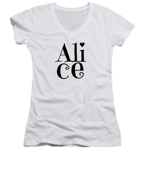Alice Women's V-Neck T-Shirt (Junior Cut) by Alice Gipson