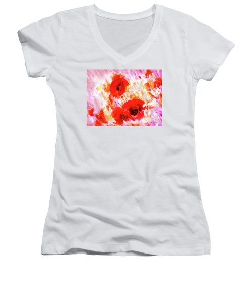 Amapolas Women's V-Neck (Athletic Fit)