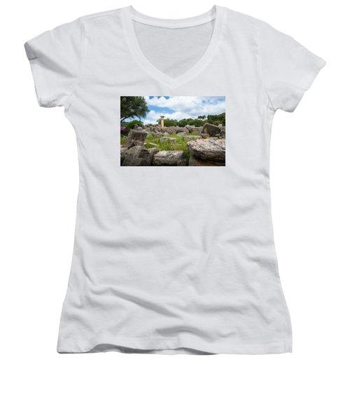 Ancient Olympia / Greece Women's V-Neck T-Shirt