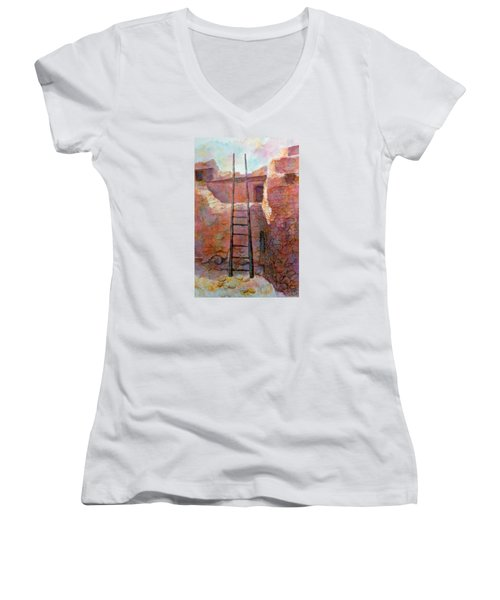 Ancient Walls Women's V-Neck (Athletic Fit)