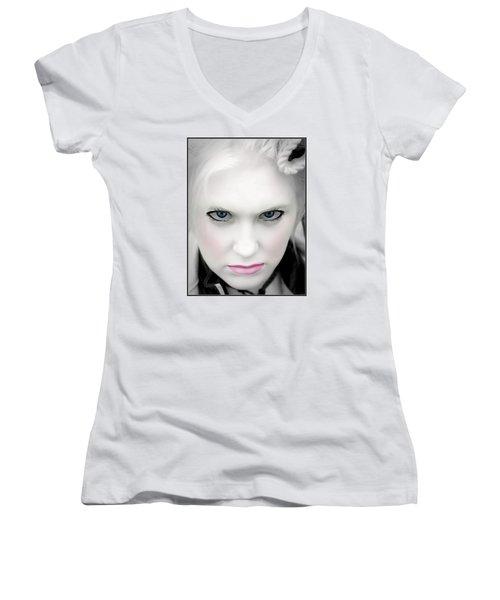 Anger Women's V-Neck T-Shirt (Junior Cut)