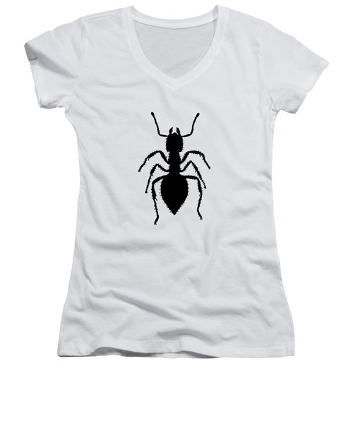 Ant Women's V-Neck T-Shirt (Junior Cut) by Mordax Furittus
