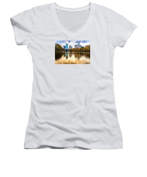 Atlanta - Usa Women's V-Neck T-Shirt