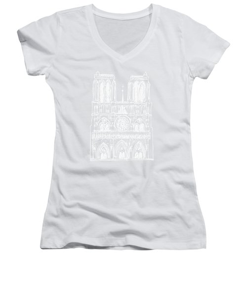 Basilica Notre Dame Women's V-Neck (Athletic Fit)