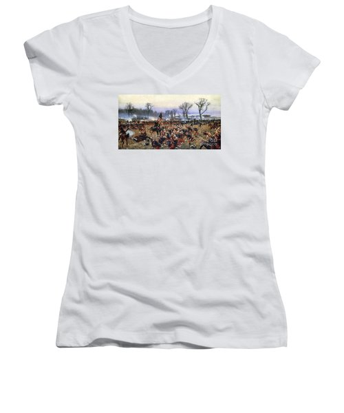 Battle Of Fredericksburg - To License For Professional Use Visit Granger.com Women's V-Neck (Athletic Fit)